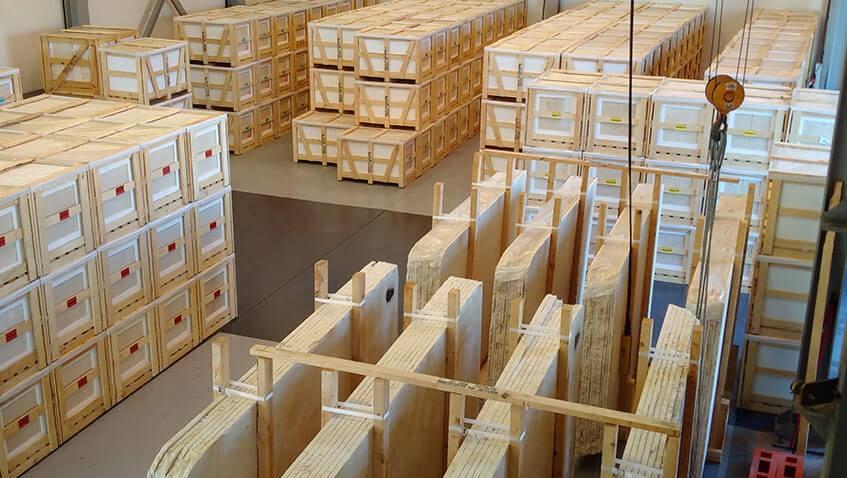Crema Marfil Warehouse: Stock and guarantees
